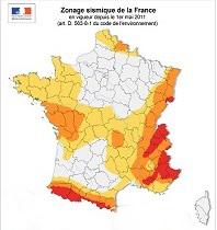 ZONAGE SISMIQUE FRANCE